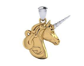 3D printable model Unicorn Pendant