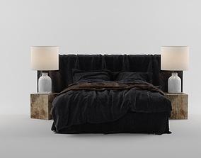 3D model BED BROWN