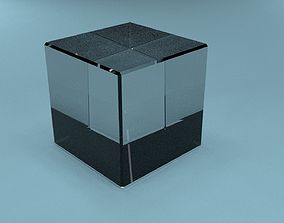 3D asset Low poly crystal cube