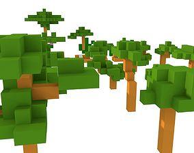 Tree Pack Minecraft 3D asset