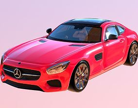 VR / AR ready Mercedes AMG GT 3D Model