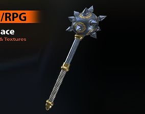 3D asset game-ready Medieval Mace 3 - Model and Textures