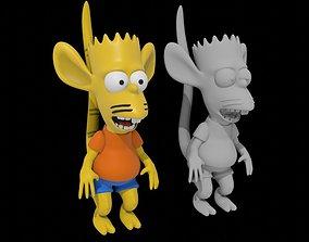Bart Simpson rat boy 3D printable model cartoon print