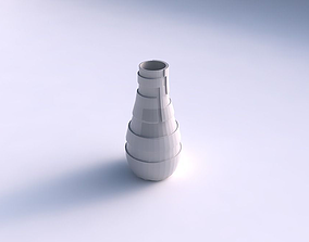 Vase curved with sharp ribbons 3D printable model