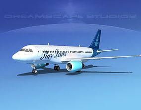 3D model Airbus A319 Star Lines