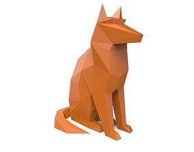 3D print model lowpoly dog