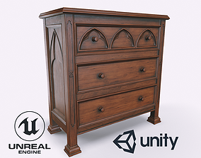 Gothic Commode 3D asset