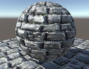 Brick road texture 3D model