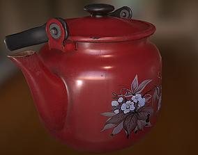 Old Teapot 3D asset game-ready