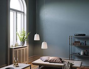 3D model Twin Lamps interior scene