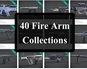 40 firearms collections 3D printable model