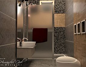 3D model BATHROOM counter