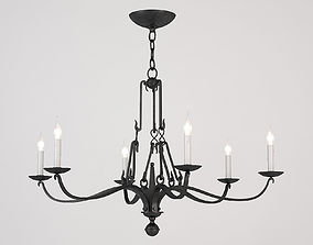 3D ALLEGRA SMALL CHANDELIER AGED IRON