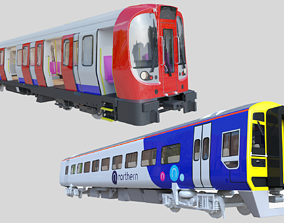 British train and London undeground 3D