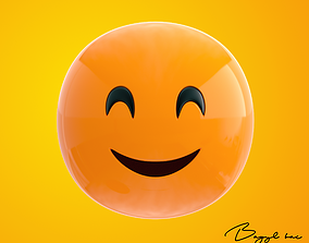 Emoji Happy 3D model realtime