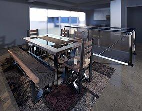 3D model Table 6 personne