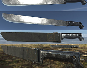 US M1942 Machete and shealth 3D model