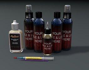 Bottles 3D model liquid