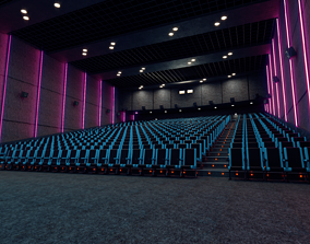 3D asset Movie theater