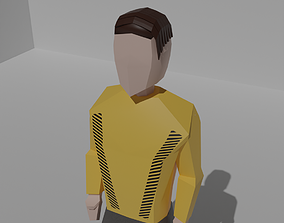 Customizable stylized low poly male 3D asset