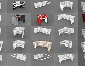 3D model A collection of 25 simple shell scheme exhibition
