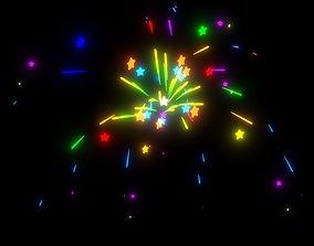 Bursting Fireworks Animated 3D model VR / AR ready