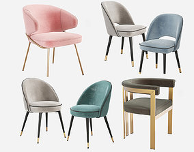 3D model Chair collection 01