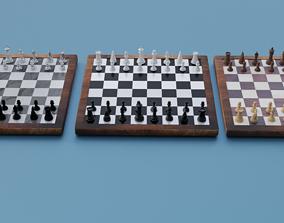 Chess set- 3 different textures 3D model