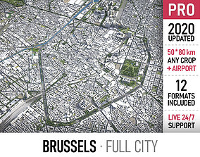 Brussels - city and surroundings 3D asset