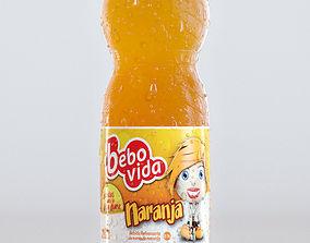 3D 500ml Plastic Bottle - Orange