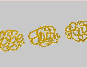 3D print model Hope - Faith-Love