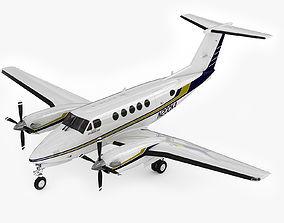 3D model Beechcraft King Air 200