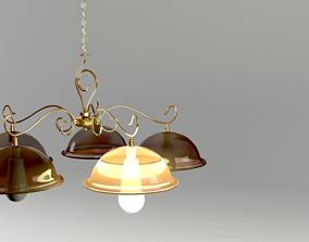 Bronze Chandelier 3D model