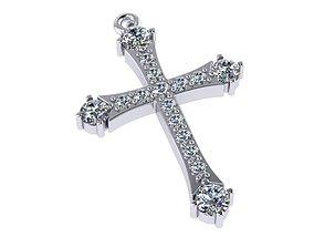 3D printable model classic cross with diamonds