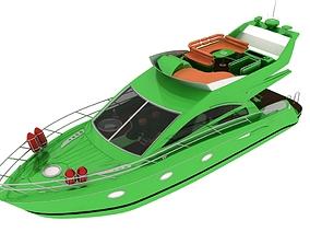 3D asset Luxury Yacht