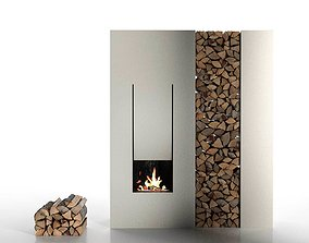 IL Canto Del Fuoco Fireplace 3D model log