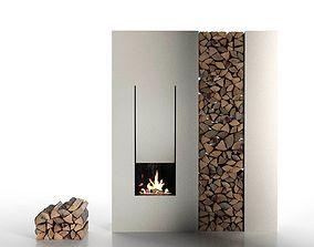 3D IL Canto Del Fuoco Fireplace