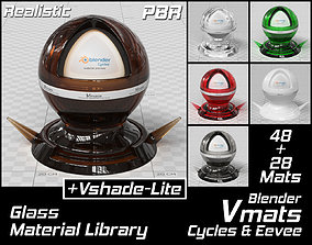 3D VMATS Glass Material Library for Blender Cycles and 1