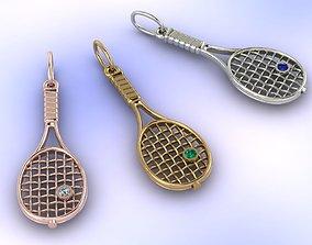 3D printable model racket tennis
