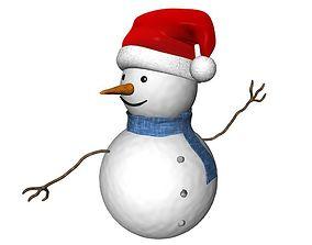 Snowman 3D Model holliday