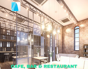 Intimate Cafe - Bar - Restaurant Scene - Archicad 3D asset