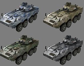 3D asset Chinese PLA ZBL09 Wheeled Infantry Combat Vehicle