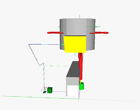 Blue flame burner 3D print model