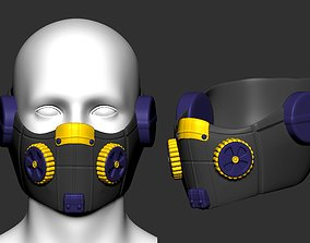 gas mask helmet scifi high poly sculpt ver1 3d