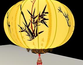 lighting Chinese Red Lantern 3D model