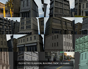 3D OLD RETRO CLASSICAL BUILDING PACK