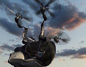 3D passenger quadcopter