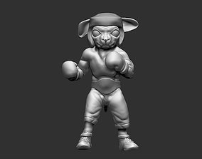3D printable model Boxing Chihuahua dog fighter figure