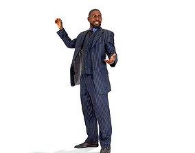 3D model Standing Smiling Business Man