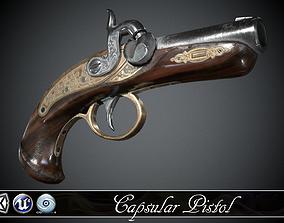 3D asset Capsular Pistol Deringer - model and textures